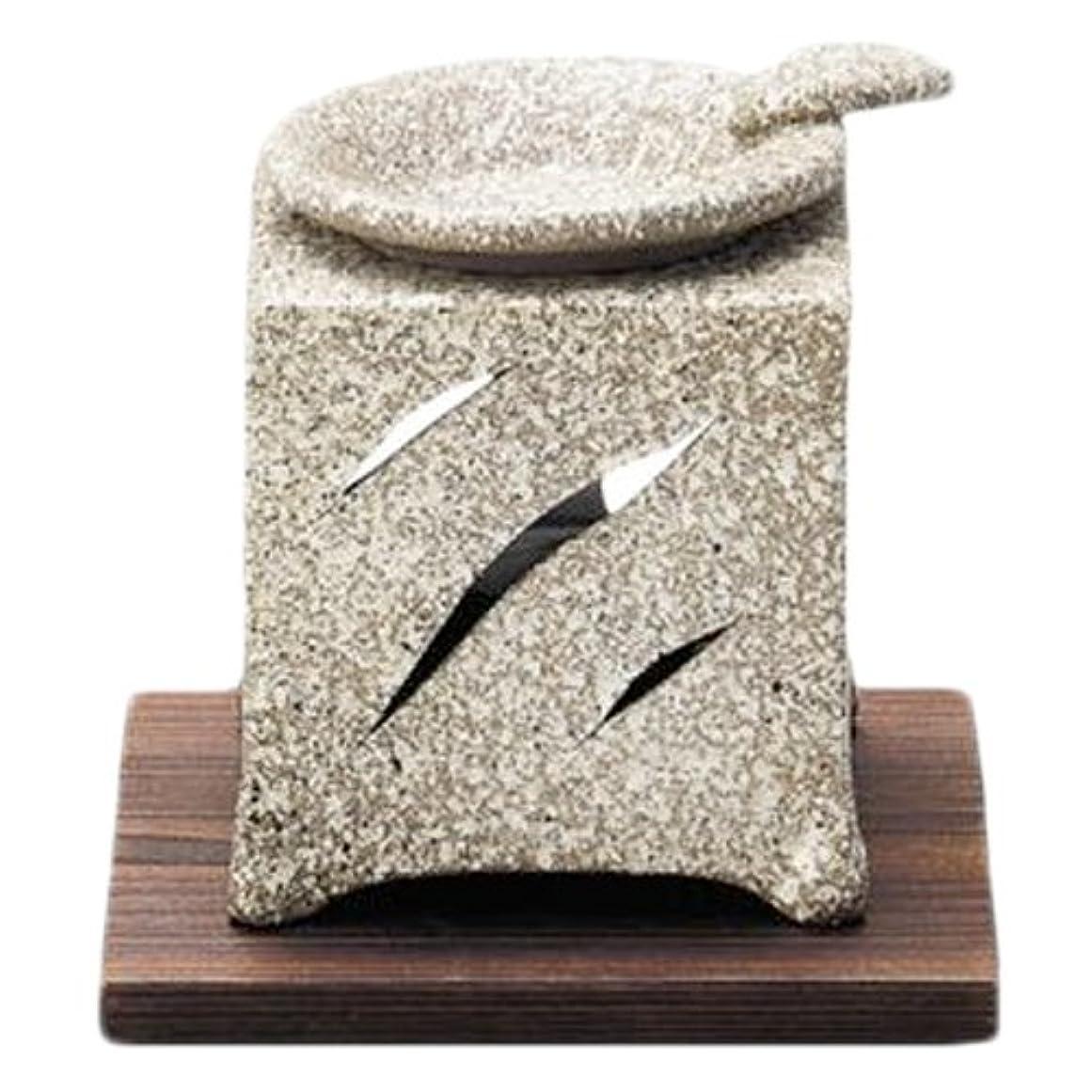 漏斗インペリアル実り多い常滑焼5-261山房 石風角形茶香炉 AM-T1054