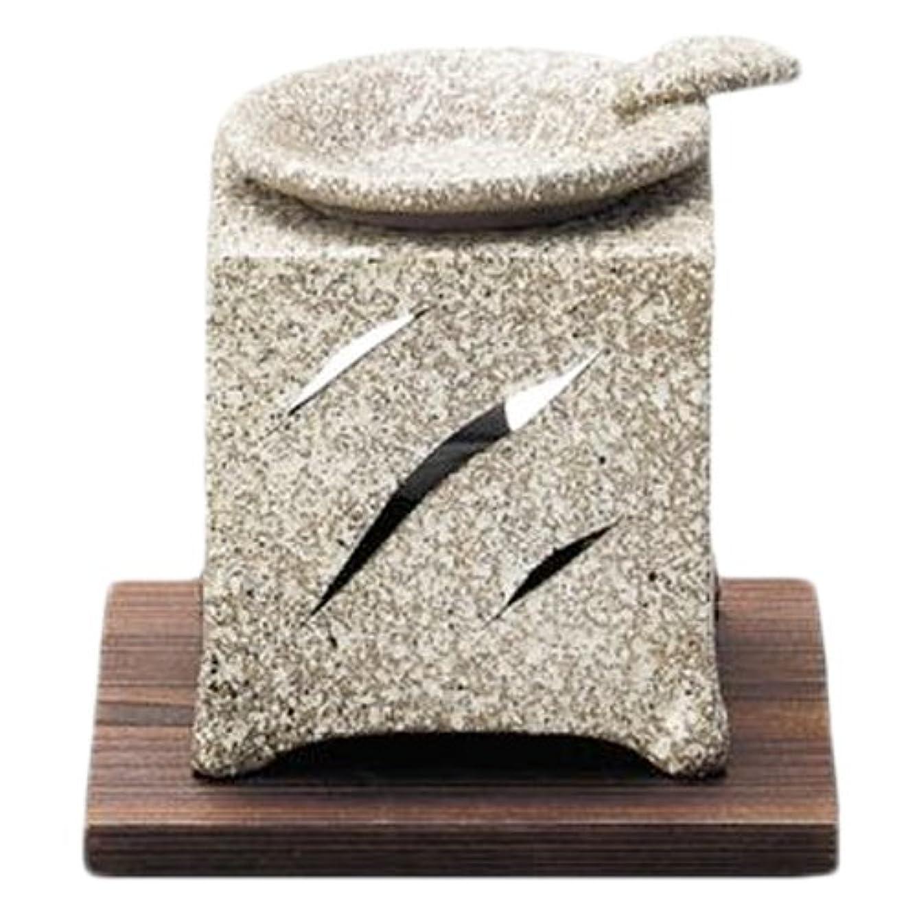 不均一シャーロットブロンテ白鳥常滑焼5-261山房 石風角形茶香炉 AM-T1054