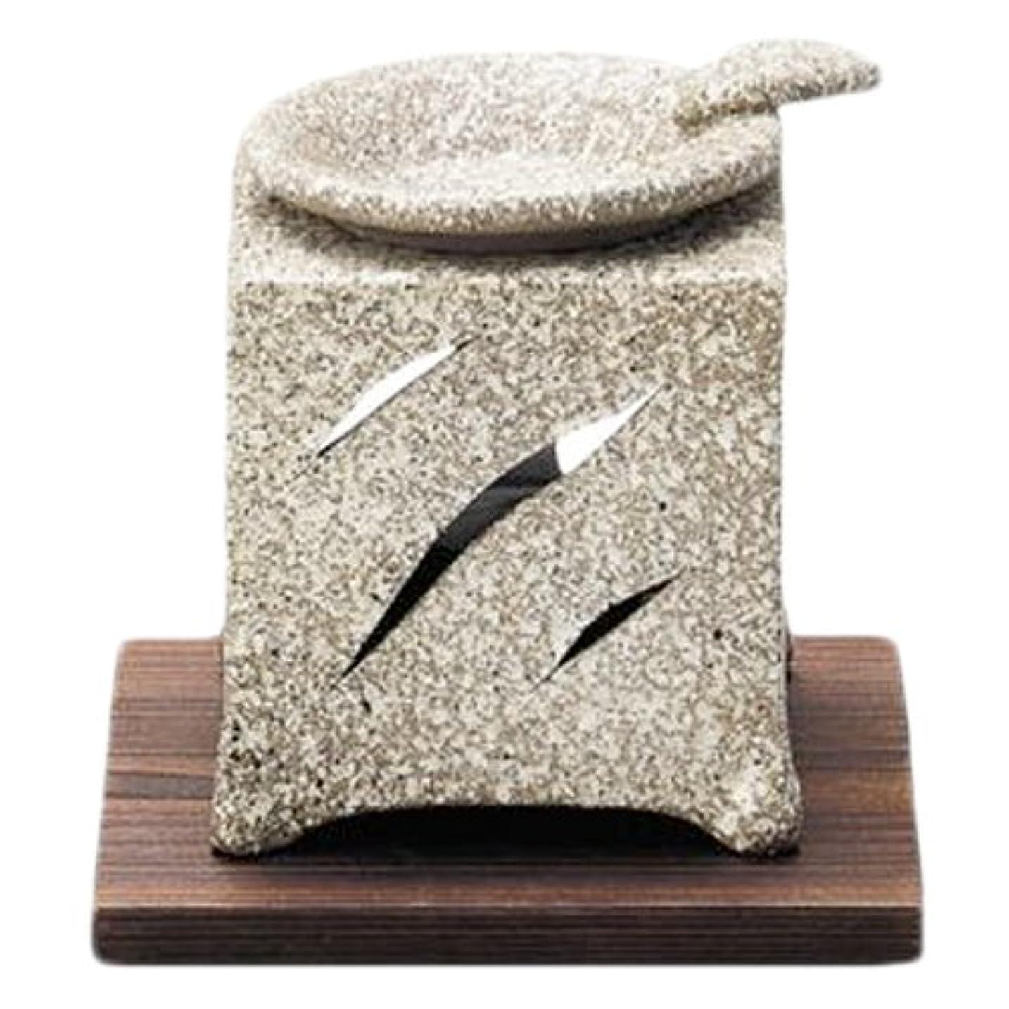 甥微生物換気する常滑焼5-261山房 石風角形茶香炉 AM-T1054