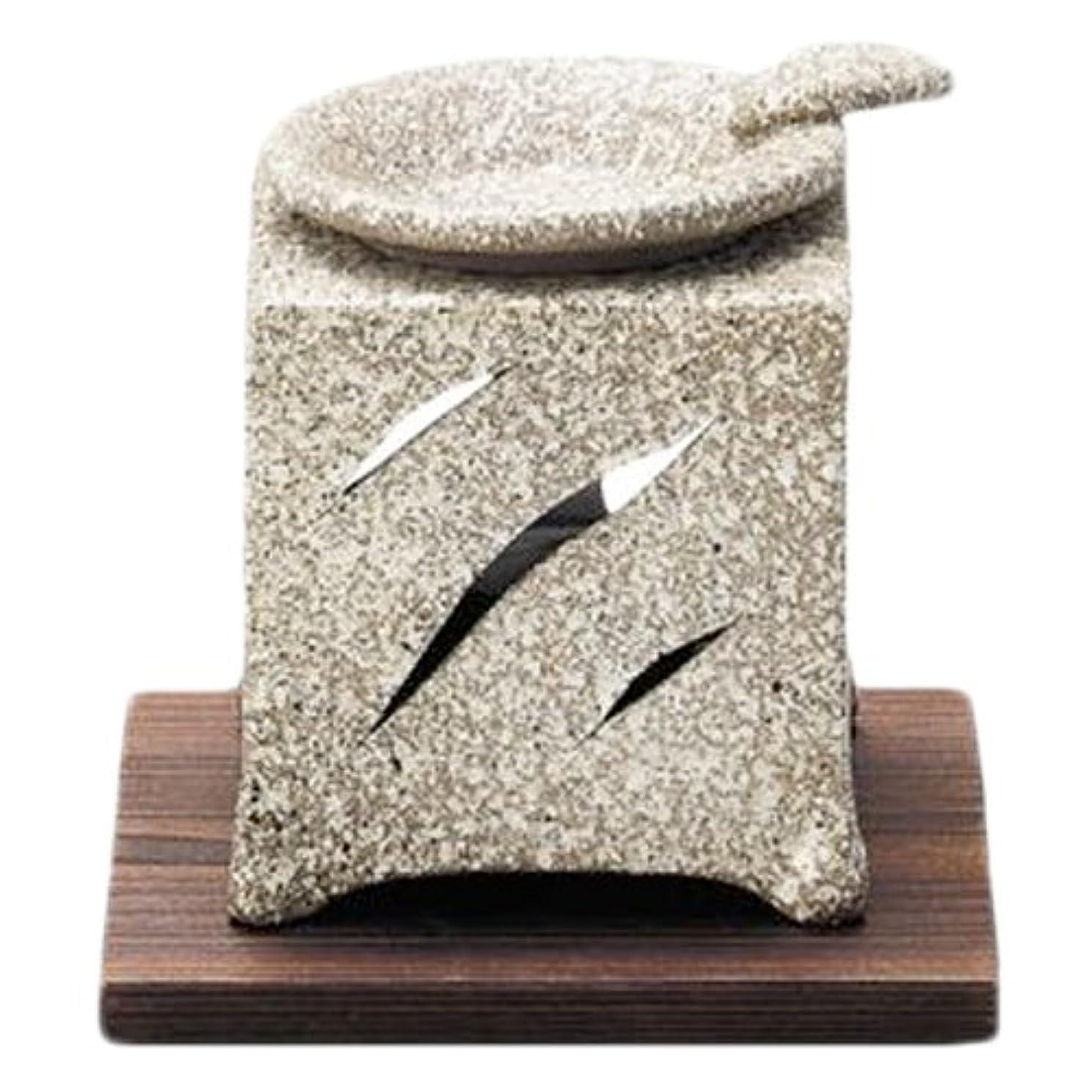 朝ゆでるバン常滑焼5-261山房 石風角形茶香炉 AM-T1054