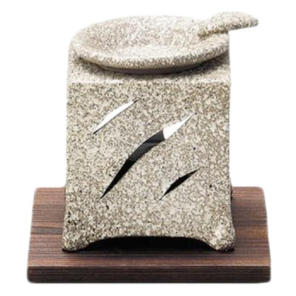 肉屋地元太い常滑焼5-261山房 石風角形茶香炉 AM-T1054
