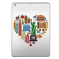第2世代 iPad Pro 10.5 inch インチ 共通 スキンシール apple アップル アイパッド プロ A1701 A1709 タブレット tablet シール ステッカー ケース 保護シール 背面 人気 単品 おしゃれ ラブリー ハート 街 アメリカ 001186