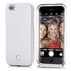 iPhone6 iPhone 6S 対応 Elftear LED ライトアップ 自撮り ケース イルミネーションカバー (白) [並行輸入品]
