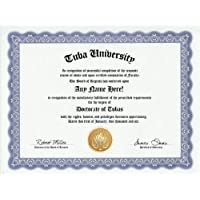 Tuba Degree: Custom Gag Diploma Doctorate Certificate (Funny Customized Joke Gift - Novelty Item) by GD Novelty Items [並行輸入品]