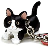 バーディ (BIRDIE) レザー携帯ストラップ 白黒猫 5757