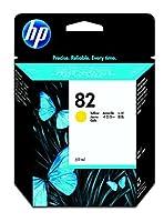 HP 82 Original Yellow DesignJet Ink Cartridge (C4913A) [並行輸入品]