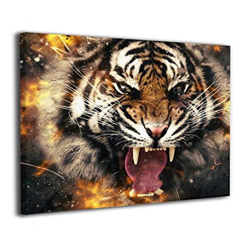 MM RESON 動物 タイガー 顔 壁掛け絵画 壁の絵 ア...