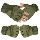 tanstyle Militaryアウトドアスポーツhalf-finger指なし戦術的エアソフト釣りジム狩猟乗馬サイクリング運転用手袋メンズレディース グリーン