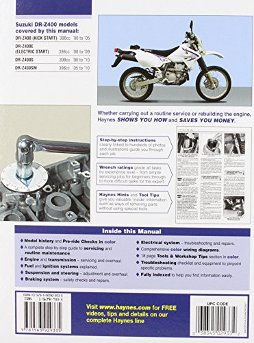Suzuki DR-Z400 (Haynes Automotive Repair Manuals)