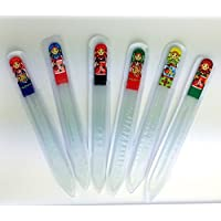 1 Piece Glass Nail File with nesting doll picture Medium Size Manicure File, Double Sided Glass Files with Case by BuyRussianGifts [並行輸入品]