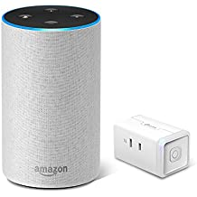 Amazon Echo (Newモデル)、サンドストーン (ファブリック) + TP-Link WiFi スマートプラグ 直差しコンセント 音声コントロール