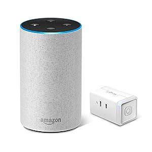 Amazon Echo、サンドストーン (ファブリック) + TP-Link WiFi スマートプラグ 直差しコンセント 音声コントロール