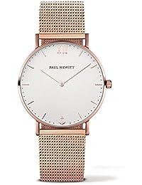 [ポールヒューイット]PAUL HEWITT メンズ レディース ユニセックス Sailor Line 39ミリ ホワイト文字盤 ローズゴールド メッシュ ステンレス PH-SA-R-St-W-4M 腕時計 [並行輸入品]