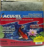 Loving Pets Corp - Pond 2560 Loving Pets Corp-Pond-Acurel Coarse Combo Pack Polyester and Carbon 12x12 Inch