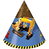 Under Construction Party Hats 8 ct