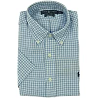 Ralph Lauren(ラルフローレン) Men's, 麻100%、半袖ギンガムチェックシャツ#7936373(並行輸入品)