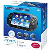 PlayStation Vita 3G/Wi-Fiモデル クリスタル・ブラック 32GBボーナスパック (PCHJ-10005)【メーカー生産終了】