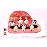 雛人形 コンパクト 人形師の手造り雛人形 柚子舎作 童錦五人飾り