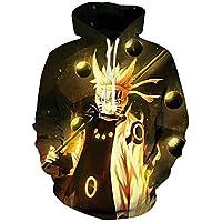 Lifocs Unisex 3D Anime Printed Hoodies Realistic Dragon Ball Z Naroto Pullover Sweatshirts