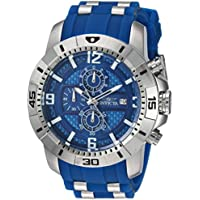 Invicta Men's Pro Diver 24963 Stainless Steel, Silicone Chronograph Watch