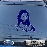 3s MOTORLINE面Christ Jesus Godデカールステッカー車ビニールPickサイズカラーDie Cut No背景C 4'' (10.2cm) ブラック 20180330s2