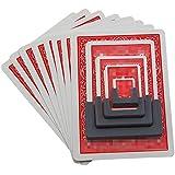 「♣zqion」カードはカードを縮小する 小型トランプ ポーカーを縮小する サイズが小さくなる 手品道具 2個入