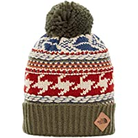 The North Face Women FAIR ISLE Beanie FAIR ISLE Beanie, FOURLEAFCLVRMLT, One Size Green