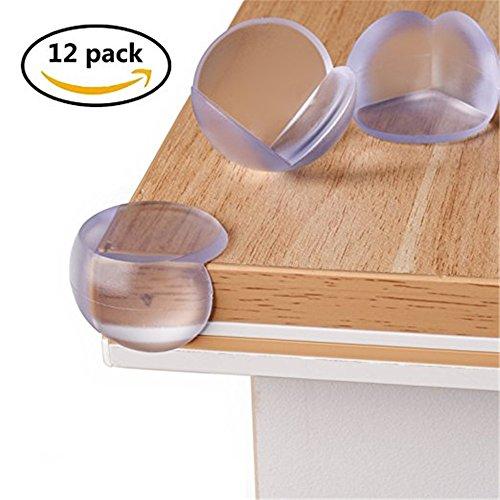 【Ksizen ショップ】コーナークッション コーナーガード 透明 粘着力が抜群 両面テープ付き テーブルや戸棚などの家具のエッジを保護して