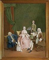 古典フレーム Pietro Longhi ジクレープリント キャンバス 印刷 複製画 絵画 ポスター(ヴェネツィア家庭の肖像)