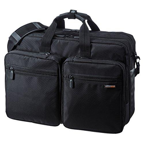 3WAYビジネスバッグ 出張用 大型 BAG-3WAY22BK [15.6型ワイド対応 ブラック]