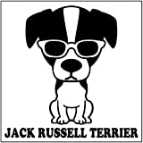 エブリーペット めがね犬ステッカー(ブラック) ジャックラッセルテリア(通常サイズ)