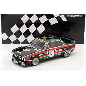 BMW 3.0 CSL #2 Luigi Racing De Wael/De Fierlant/Nilsson Winner Nurburgring 1976 Limited Edition to 804pcs 1/18 Diecast Model Car by Minichamps サイズ : 1/18 [並行輸入品]