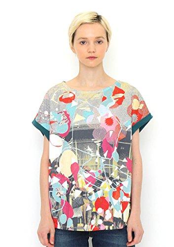 (グラニフ) graniph コラボレーション Tシャツ レトロ (ケイトギブ) (グリーン) レディース Lady(F)