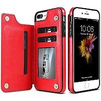 FLOVEME for iPhone 8 Plus&7 Plusクレイジーホースのテクスチャカードスロット&ホルダー付き水平フリップレザー保護ケース フォンケース. (Size : Ip8p0092r)