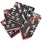 Polyester Pirate Themed Bandanas / Headbands for Costumes / Party Favours - 48 Pack
