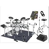 ローランド V-drums 電子ドラム TD-30KV-S(12SET)椅子/スタンド/ヘッドフォン/スティック/ツインペダル/ドラムマット/アンプ付き