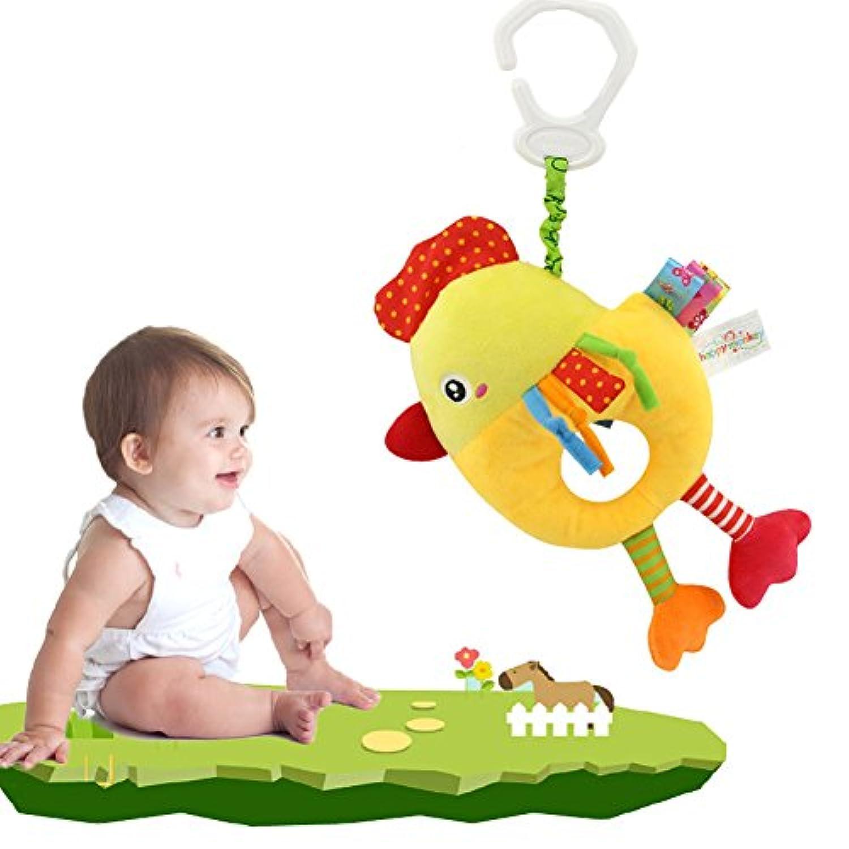 エレガントで美しいベビーハンギングプーリングベル ぬいぐるみ 教育ポータブル音楽チック 動物おもちゃ ベビーベッド