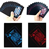 Manyao 2デッキの防水ポーカーカードプラスチックPVCトランプパーティーゲームに最適ブルー+レッド