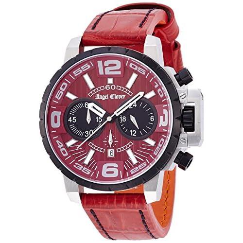 [エンジェルクローバー]Angel Clover 腕時計 タイムクラフト レッド文字盤  ステンレス/ステンレス(BKPVD)ケース 100m防水 デイト NTC48SRE-RE メンズ
