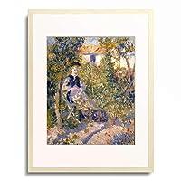 ピエール=オーギュスト・ルノワール Pierre-Auguste Renoir 「Nini in the Garden (Nini Lopez), 1876.」 額装アート作品