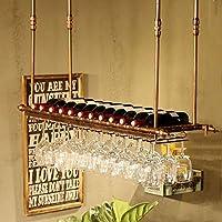 ワインラック シンプルなスタイルの鉄吊りワイングラスラック天井の装飾棚バー、レストラン、キッチン カップホルダー (Size : 100*30cm)