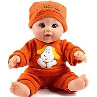 Tusalmo おもちゃ人形 12 インチ子供のおもちゃ、ビニール体赤ちゃん人形専門のおもちゃドール メーカーからの女の子のため (オレンジ)