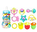 教育用おもちゃ3-6-12ヶ月Teether Baby Teether Rattlesランダムカラー