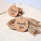 Meily thank you タグ メッセージタグ クラフト紙 結婚式 パーティー 撮影用 小物 カード 50枚入