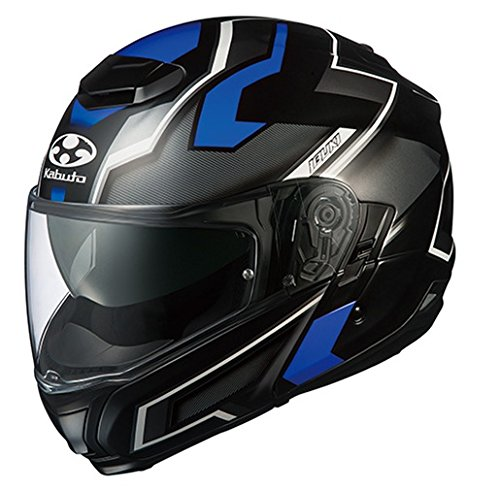 オージーケーカブト(OGK KABUTO)バイクヘルメット システム IBUKI DARK(ダーク) フラットブラックブルー (サイズ:XL) 571290