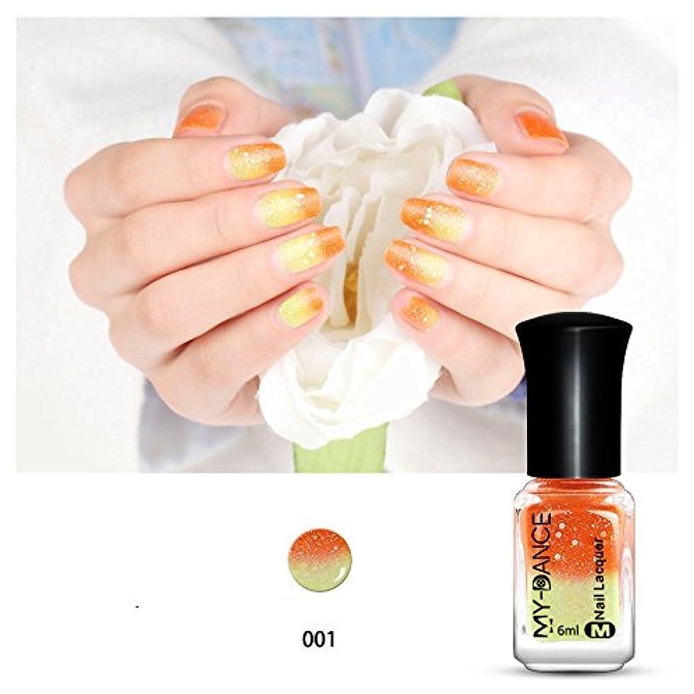 撤回する結婚式立場1ボトル 温度によって色が変わるネイルカラー  ネイルマニキュア  変色ポリッシュ ネイルアート