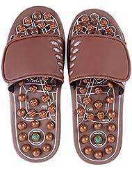 快適 ジェイドマッサージスリッパ女性の足指圧ホームシューズ滑り止めスリッパ屋内マッサージシューズ(オプションのサイズ) 増加した (サイズ さいず : L(43-46))