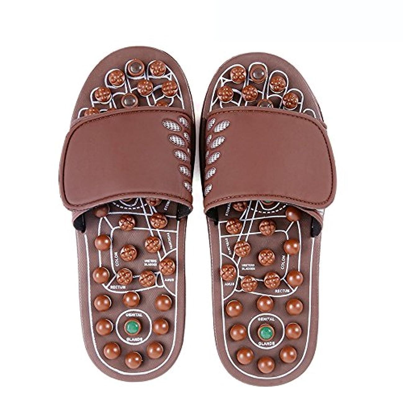 休日に使用法無し快適 ジェイドマッサージスリッパ女性の足指圧ホームシューズ滑り止めスリッパ屋内マッサージシューズ(オプションのサイズ) 増加した (サイズ さいず : L(43-46))