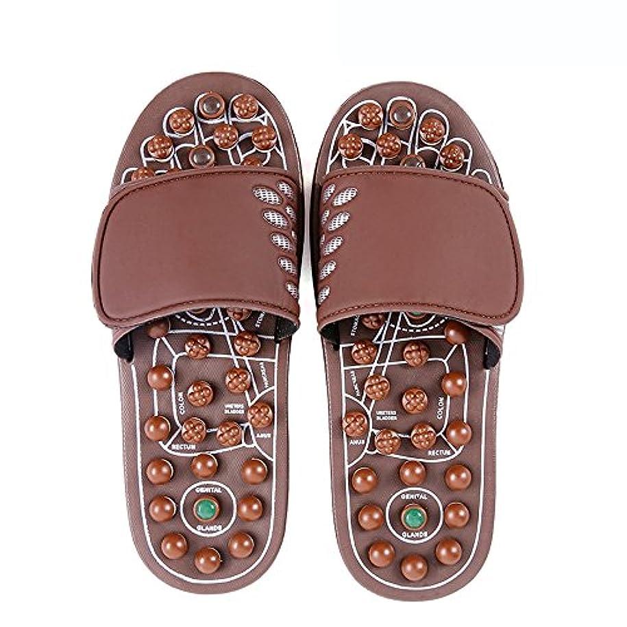 ジャム自然公園インフレーション快適 ジェイドマッサージスリッパ女性の足指圧ホームシューズ滑り止めスリッパ屋内マッサージシューズ(オプションのサイズ) 増加した (サイズ さいず : L(43-46))