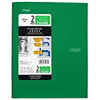 Five Star 2-Pocket Folder with Prong Fasteners Stay-Put Folders Folders with Pockets Color Will Vary (38030) [並行輸入品]
